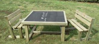 Table ardoise d'extérieur pour enfants - Devis sur Techni-Contact.com - 1