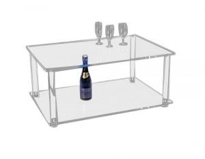 Table basse en plexiglas cristal épais - Devis sur Techni-Contact.com - 1