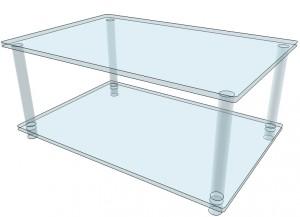Table basse en plexiglas cristal épais - Devis sur Techni-Contact.com - 3