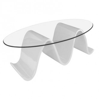 Table basse en verre transparent pour accueil - Devis sur Techni-Contact.com - 1