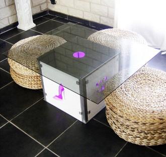 Table basse lumineuse led - Devis sur Techni-Contact.com - 1