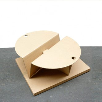 Table basse ronde en carton - Devis sur Techni-Contact.com - 3