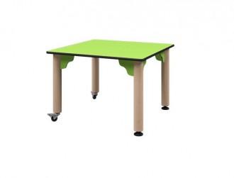 Table carré avec piétements réglables en hauteur - Devis sur Techni-Contact.com - 1