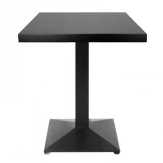 Table carré en bois mélaminé couleur acajou - Devis sur Techni-Contact.com - 1
