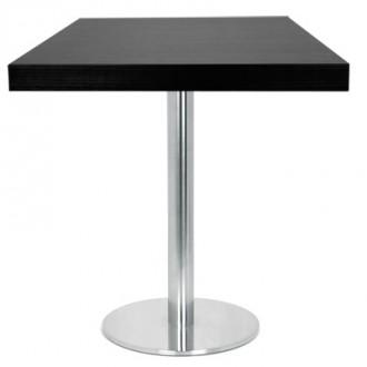 Table carré en bois melaminé couleur noir - Devis sur Techni-Contact.com - 1