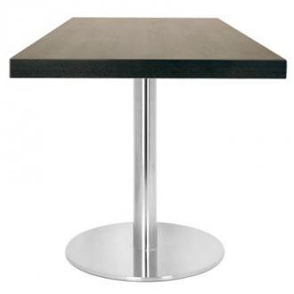 Table carrée en bois piètement en acier inox - Devis sur Techni-Contact.com - 1
