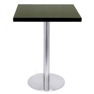 Table carrée en bois plaqué Wengé - Devis sur Techni-Contact.com - 1