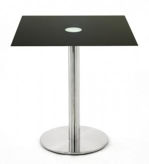 Table carrée en verre noir - Devis sur Techni-Contact.com - 1