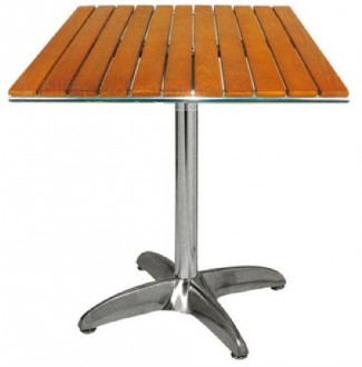 Table de bar carrée pied en aluminium - Devis sur Techni-Contact.com - 1