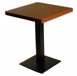Table de bar en bois avec pied carré - Devis sur Techni-Contact.com - 1