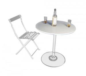 Table de bistrot plexi pied cristal - Devis sur Techni-Contact.com - 1
