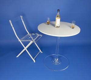 Table de bistrot plexi pied cristal - Devis sur Techni-Contact.com - 2