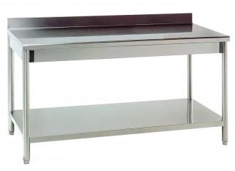 Table de cuisine adossée en inox - Devis sur Techni-Contact.com - 1
