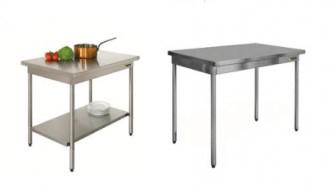 Table de cuisine fixe inox - Devis sur Techni-Contact.com - 1