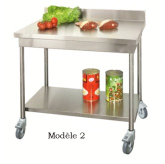 8 mod les partir de for Table de cuisine inox
