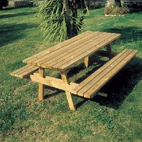 Table de pique-nique en bois - Devis sur Techni-Contact.com - 1