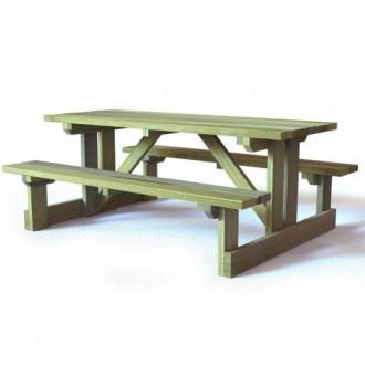 Table de pique nique en bois à poser - Devis sur Techni-Contact.com - 1