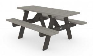 Table de pique-nique en plastique recyclé 1800 mm - Devis sur Techni-Contact.com - 1