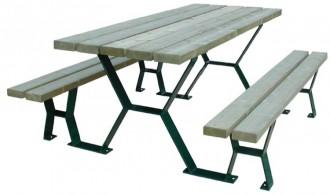 Table de pique nique lames bois - Devis sur Techni-Contact.com - 1