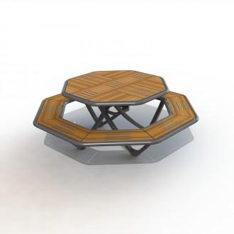 Table de pique nique Octogonale - Devis sur Techni-Contact.com - 1
