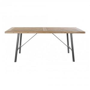 Table de style industriel avec plateau en sapin - Devis sur Techni-Contact.com - 1