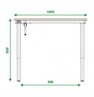 Table de travail à 4 pieds - Devis sur Techni-Contact.com - 4
