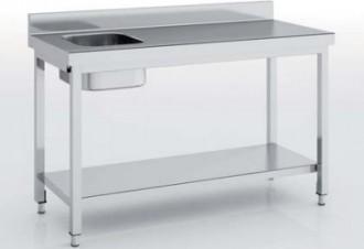 Table du chef avec bac à gauche - Devis sur Techni-Contact.com - 1