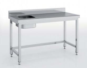 Table du chef avec bac à gauche - Devis sur Techni-Contact.com - 2
