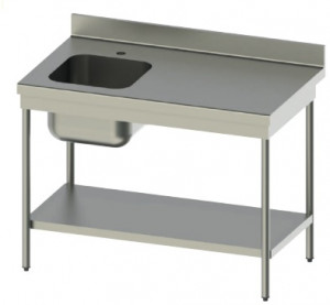 Table du chef en inox 304 d'une profondeur de 600 mm  - Devis sur Techni-Contact.com - 1