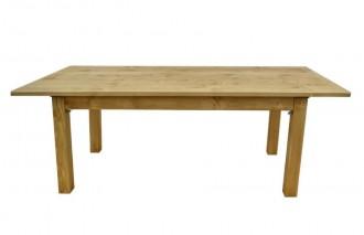 Table en bois massif à pieds rabattable - Devis sur Techni-Contact.com - 1