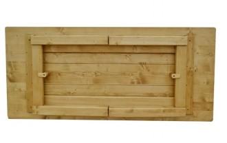 Table en bois massif à pieds rabattable - Devis sur Techni-Contact.com - 2