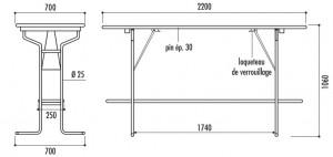 Table et banc brasserie pliant - Devis sur Techni-Contact.com - 3