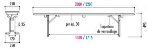 Table et banc brasserie pliant - Devis sur Techni-Contact.com - 4