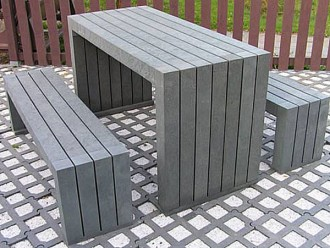 Table et bancs en plastique recyclé - Devis sur Techni-Contact.com - 1