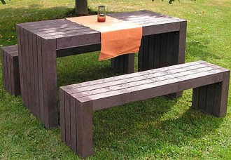 Table et bancs en plastique recyclé - Devis sur Techni-Contact.com - 2