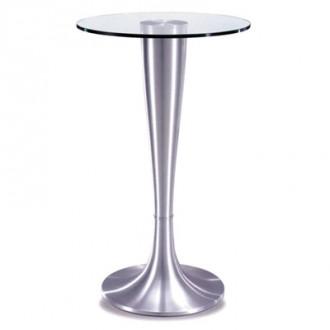 Table haute design en verre trempé - Table haute mange debout ...