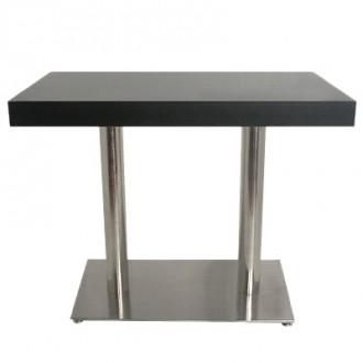 Table haute en bois et inox - Devis sur Techni-Contact.com - 1