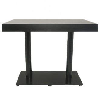 Table haute en bois piètement en acier - Devis sur Techni-Contact.com - 1