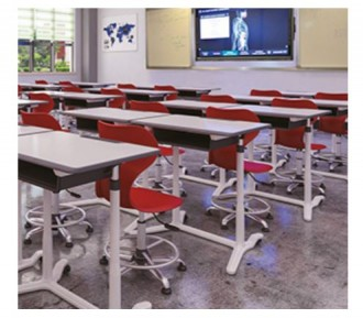 Table de travail individuel scolaire réglable - Devis sur Techni-Contact.com - 4