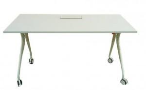 Table pliante à roulette blanche - Devis sur Techni-Contact.com - 1