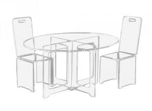 Table basse ovale en plexiglas - Devis sur Techni-Contact.com - 1