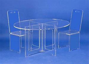 Table basse ovale en plexiglas - Devis sur Techni-Contact.com - 2