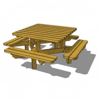Table pique nique 8 personnes - Devis sur Techni-Contact.com - 2