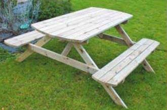 Table pique nique bois 1.72 m L x 1.60 m l - Devis sur Techni-Contact.com - 1