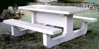 Table pique-nique en béton blanc - Devis sur Techni-Contact.com - 1