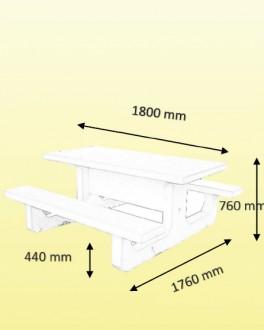 Table pique-nique en béton blanc - Devis sur Techni-Contact.com - 2
