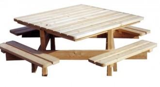 Table pique-nique en mélèze - Devis sur Techni-Contact.com - 1