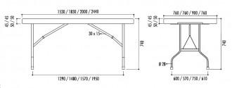 Table plastique pliante - Devis sur Techni-Contact.com - 3