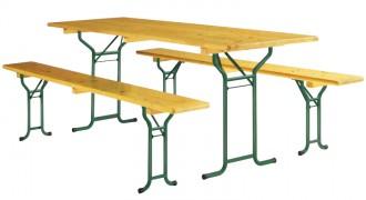 Table pliante avec bancs en bois - Devis sur Techni-Contact.com - 1