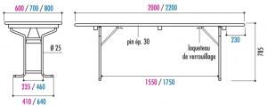 Table pliante avec bancs en bois - Devis sur Techni-Contact.com - 2